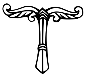 A symbolic rendering of the holy tree in German paganism. Irminsul. A pole with wings. Compare this to the picture further down.