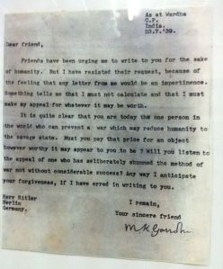 Brev fra Gandhi til Hitler